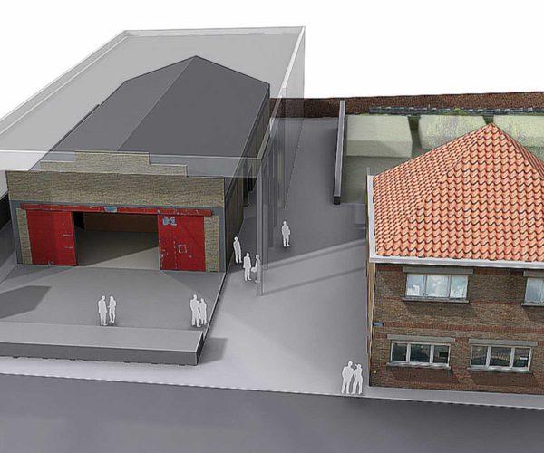3D beeld 4AD Diksmuide AVDK Architecten
